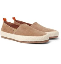Mulo Suede Espadrilles Light Brown