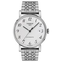 Tissot T1094071103200 Unisex Everytime Automatic Date Bracelet Strap Watch Silver White