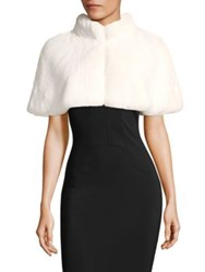 Alberto Makali Faux Fur Crop Shrug White Black
