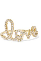 Sydney Evan Large Love 14 Karat Gold Diamond Ring 6