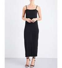 Wolford Shiny Double Strap Knitted Dress Black