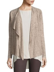 Eileen Fisher Draped Open Front Linen Cardigan Natural