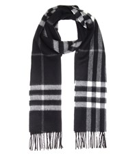 Burberry Giant Icon Cashmere Scarf Black