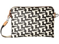 Orla Kiely Matt Laminated Baby Bunny Print Travel Pouch Black Handbags