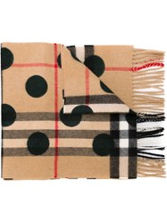 Burberry House Check Scarf Nude And Neutrals