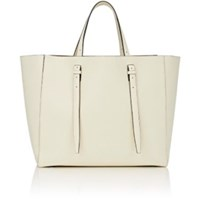 Valextra Women's Adjustable Handle Tote Bag White