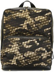 Pierre Hardy 'Camocube' Backpack Green