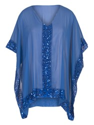 Chesca Sequin Detail Cover Up Blue
