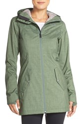 The North Face Women's 'Aspen' Hooded Waterproof Jacket Laurel Wreath Green