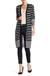 Joseph A Striped Cardigan Black