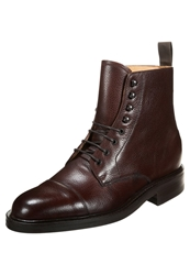 Barker Lambourn Laceup Boots Cherry Brown