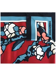 Dsquared2 'Blossom' Print Scarf Blue