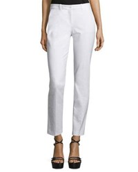 Michael Kors Samantha Skinny Ankle Pants Optic White