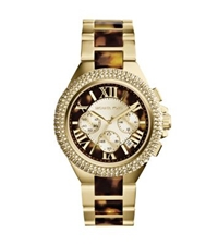 Michael Kors Camille Tortoise Acetate And Gold Tone Watch