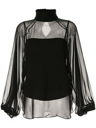 Camilla And Marc Sheer Funnel Neck Blouse 60