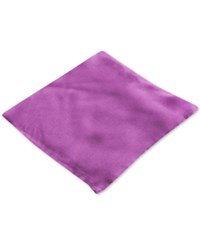 Club Room Pocket Square Silk Solid Eggplant