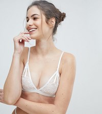 Wolf And Whistle Floral Triangle Bra White