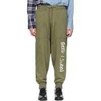 Greg Lauren Green Army Drop Lounge Pants