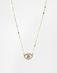 Rachel Roy Evil Eye Pendant Necklace Gold