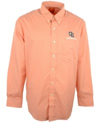 Antigua Men's Long Sleeve Oregon State Beavers Button Down Shirt Orange