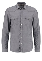 Tom Tailor Denim Fitted Shirt Slightly Creamy Anthracite