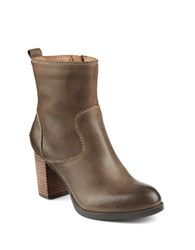 Sperry Dasher Grace Leather Ankle Boots Beige