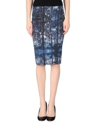 Calla Knee Length Skirts Dark Blue