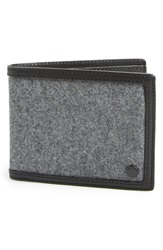 Rag And Bone 'Hampshire' Wool And Leather Bilfold Wallet Charcoal