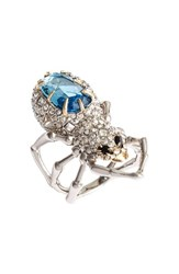 Alexis Bittar Women's Encrusted Spider Ring Crystal Blue
