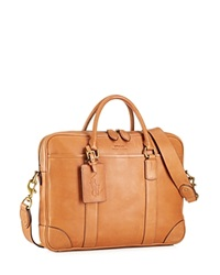 Polo Ralph Lauren Core Leather Commuter Bag Cognac