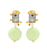 Marni Crystal Embellished Clip On Earrings Multicoloured