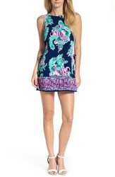 Lilly Pulitzer Donna Romper Dress Inky Navy Peanut Gallery