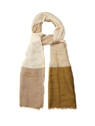 Denis Colomb Angkorwot Cashmere And Silk Blend Scarf Khaki