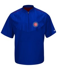 Majestic Men's Short Sleeve Chicago Cubs Authentic Collection Training Jacket Royalblue