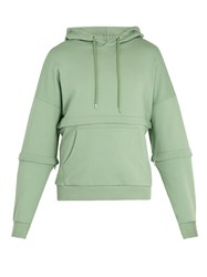 Cottweiler Off Grid Cotton Jersey Hooded Sweatshirt Green