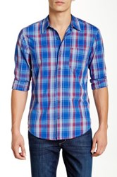 Michael Stars Plaid Long Sleeve Shirt Multi