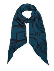 Jigsaw Deconstructed Typo Modal Scarf Blue