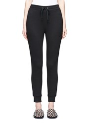 Alexander Wang Elastic Cuff French Terry Sweatpants Black