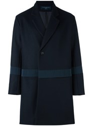 Natural Selection 'Plymouth' Double Breasted Coat Blue