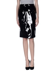 Marc By Marc Jacobs Knee Length Skirts Black