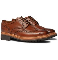 Grenson Archie Leather Wingtip Brogues Tan