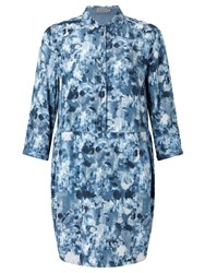 Calvin Klein Darby Print Shirt Dress Indigo Flower