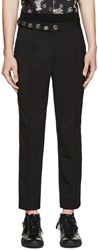 Versus Black Wool Logo Anthony Vaccarello Edition Trousers