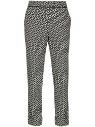 Taylor All Over Print Trousers Black