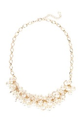Nordstrom Rack Faux Pearl Bauble Necklace Metallic