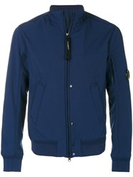 C.P. Company Cp Zip Up Jacket Cotton Polyester Spandex Elastane Blue
