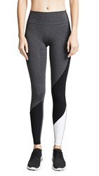 Splits59 All Star Tights Heather Grey Black Off White