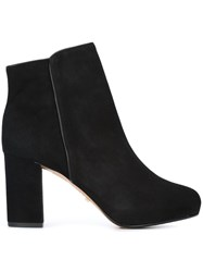 Schutz Chunky Heel Ankle Boots Black