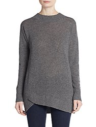 Cullen Asymmetrical Cashmere Sweater Flannel