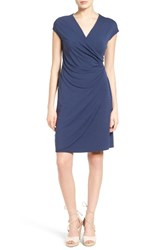 Tommy Bahama Women's Tambour Side Gathered Jersey Dress Ocean Deep